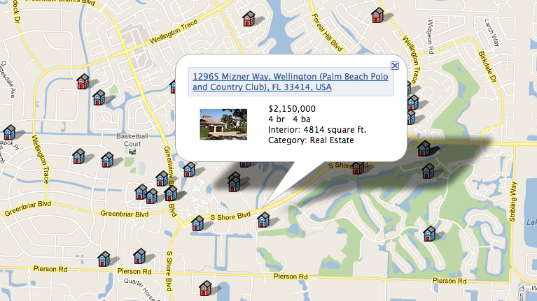 Map-based Real Estate Search Engine